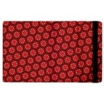 Red Passion Floral Pattern Apple iPad 2 Flip Case