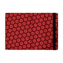 Red Passion Floral Pattern Apple Ipad Mini Flip Case by DanaeStudio
