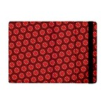 Red Passion Floral Pattern Apple iPad Mini Flip Case