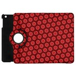 Red Passion Floral Pattern Apple iPad Mini Flip 360 Case