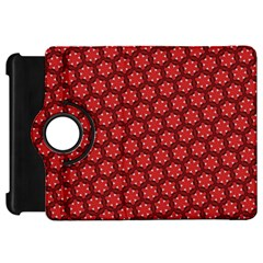 Red Passion Floral Pattern Kindle Fire Hd Flip 360 Case by DanaeStudio