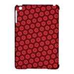Red Passion Floral Pattern Apple iPad Mini Hardshell Case (Compatible with Smart Cover)