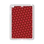 Red Passion Floral Pattern iPad Mini 2 Enamel Coated Cases Front