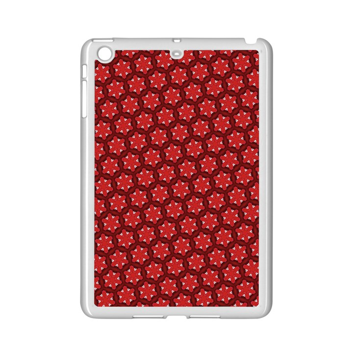 Red Passion Floral Pattern iPad Mini 2 Enamel Coated Cases