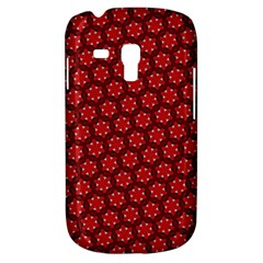 Red Passion Floral Pattern Samsung Galaxy S3 Mini I8190 Hardshell Case by DanaeStudio