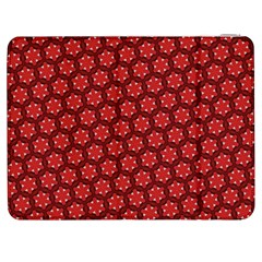 Red Passion Floral Pattern Samsung Galaxy Tab 7  P1000 Flip Case by DanaeStudio