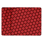 Red Passion Floral Pattern Samsung Galaxy Tab 10.1  P7500 Flip Case