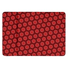 Red Passion Floral Pattern Samsung Galaxy Tab 8 9  P7300 Flip Case by DanaeStudio