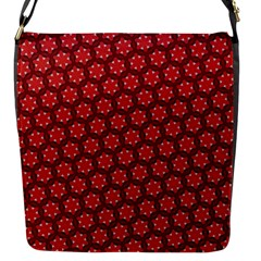 Red Passion Floral Pattern Flap Messenger Bag (s) by DanaeStudio