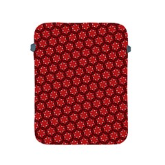 Red Passion Floral Pattern Apple Ipad 2/3/4 Protective Soft Cases by DanaeStudio