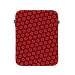 Red Passion Floral Pattern Apple iPad 2/3/4 Protective Soft Cases