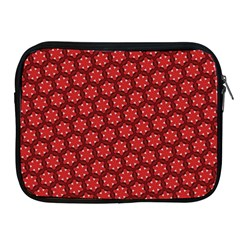 Red Passion Floral Pattern Apple Ipad 2/3/4 Zipper Cases by DanaeStudio