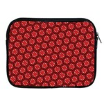Red Passion Floral Pattern Apple iPad 2/3/4 Zipper Cases Front