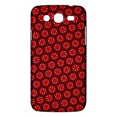 Red Passion Floral Pattern Samsung Galaxy Mega 5 8 I9152 Hardshell Case  by DanaeStudio
