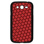 Red Passion Floral Pattern Samsung Galaxy Grand DUOS I9082 Case (Black) Front