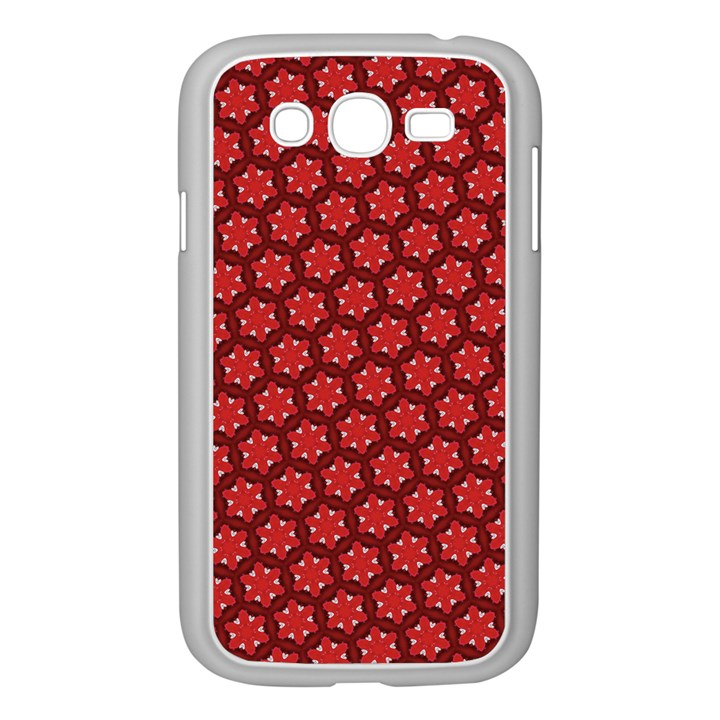 Red Passion Floral Pattern Samsung Galaxy Grand DUOS I9082 Case (White)