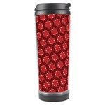Red Passion Floral Pattern Travel Tumbler Center