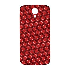 Red Passion Floral Pattern Samsung Galaxy S4 I9500/i9505  Hardshell Back Case by DanaeStudio