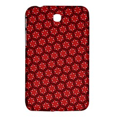 Red Passion Floral Pattern Samsung Galaxy Tab 3 (7 ) P3200 Hardshell Case  by DanaeStudio