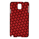 Red Passion Floral Pattern Samsung Galaxy Note 3 N9005 Hardshell Case