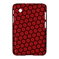 Red Passion Floral Pattern Samsung Galaxy Tab 2 (7 ) P3100 Hardshell Case  by DanaeStudio