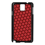Red Passion Floral Pattern Samsung Galaxy Note 3 N9005 Case (Black)