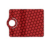 Red Passion Floral Pattern Kindle Fire HD (2013) Flip 360 Case
