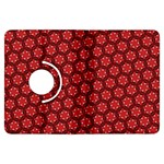 Red Passion Floral Pattern Kindle Fire HDX Flip 360 Case
