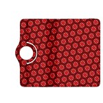 Red Passion Floral Pattern Kindle Fire HDX 8.9  Flip 360 Case