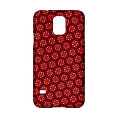 Red Passion Floral Pattern Samsung Galaxy S5 Hardshell Case  by DanaeStudio