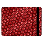 Red Passion Floral Pattern Samsung Galaxy Tab Pro 12.2  Flip Case Front