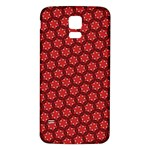 Red Passion Floral Pattern Samsung Galaxy S5 Back Case (White) Front