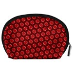 Red Passion Floral Pattern Accessory Pouches (Large)  Back
