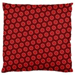 Red Passion Floral Pattern Large Flano Cushion Case (Two Sides) Back
