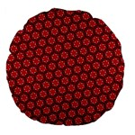 Red Passion Floral Pattern Large 18  Premium Flano Round Cushions