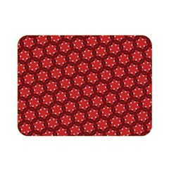 Red Passion Floral Pattern Double Sided Flano Blanket (mini)  by DanaeStudio