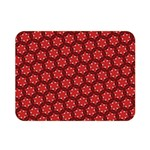 Red Passion Floral Pattern Double Sided Flano Blanket (Mini)  35 x27 Blanket Back