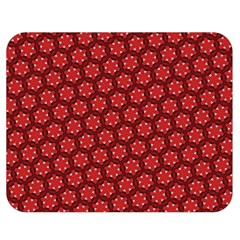 Red Passion Floral Pattern Double Sided Flano Blanket (medium)  by DanaeStudio