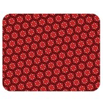 Red Passion Floral Pattern Double Sided Flano Blanket (Medium)  60 x50 Blanket Back