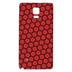 Red Passion Floral Pattern Galaxy Note 4 Back Case by DanaeStudio