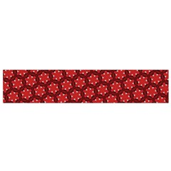 Red Passion Floral Pattern Flano Scarf (small)  by DanaeStudio