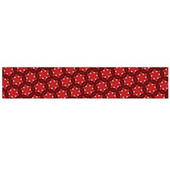 Red Passion Floral Pattern Flano Scarf (large)  by DanaeStudio