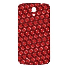 Red Passion Floral Pattern Samsung Galaxy Mega I9200 Hardshell Back Case