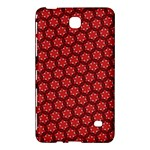 Red Passion Floral Pattern Samsung Galaxy Tab 4 (8 ) Hardshell Case