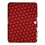 Red Passion Floral Pattern Samsung Galaxy Tab 4 (10.1 ) Hardshell Case