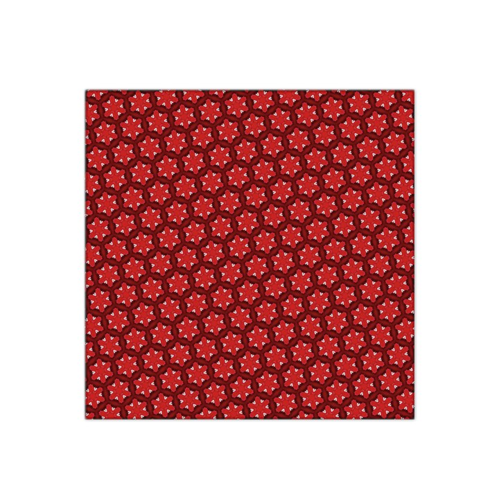 Red Passion Floral Pattern Satin Bandana Scarf