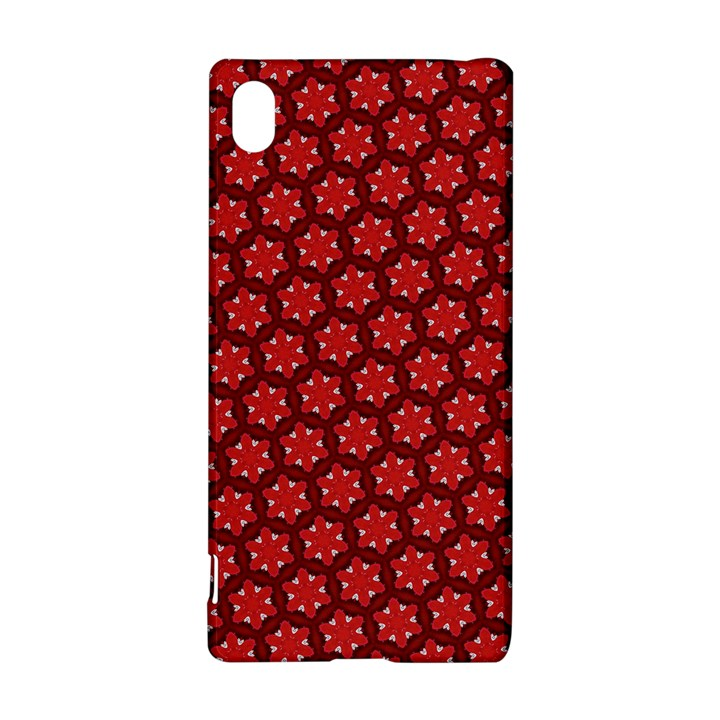 Red Passion Floral Pattern Sony Xperia Z3+