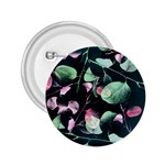 Modern Green And Pink Leaves 2.25  Buttons