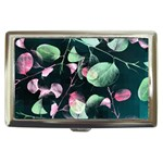Modern Green And Pink Leaves Cigarette Money Cases