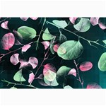 Modern Green And Pink Leaves Collage Prints 18 x12 Print - 2
